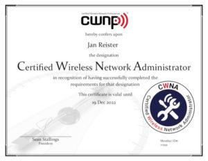 My CWNA certificate